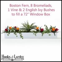 Tropical Artificial Flowers for Window Boxes