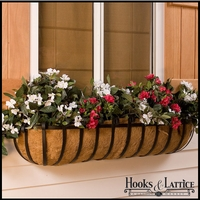 "72"" XL Scroll Window Box w/ XL Coco Liner"