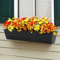 24in. Galvanized Window Box- Black Tone