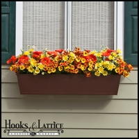 72in. Galvanized Window Box- Textured Bronze (Hammered Finish)