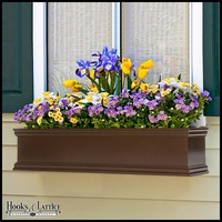 72in. Laguna Fiberglass Window Box - Bronze