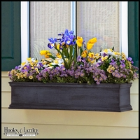 72in. Laguna Fiberglass Window Box - Distressed Pewter