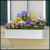 72in. Laguna Fiberglass Window Box - White