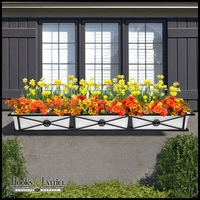 72in. Medallion Decora Window Box w/ (3) Vinyl Liners