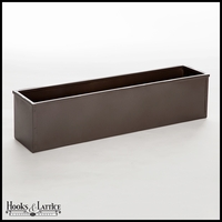 72in. Metal Window Box Liner, Bronze-Tone Finish
