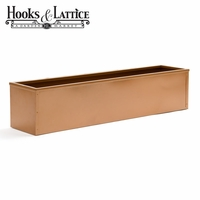 72in. Metal Window Box Liner, Copper-Tone Finish