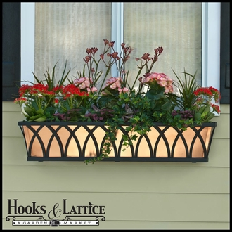 72in. Real Copper Window Box/Decora Liner