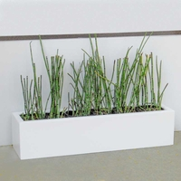 72in. Small Urban Chic Rectangular Fiberglass Porch Planter - Choose from 3 Colors