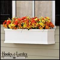 72in. XL Laguna Premier  Composite Window Box w/ *Easy Up* Cleat Mounting System