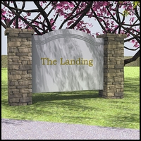 "86""W x 54""H x 20""D Stone Monument Sign"