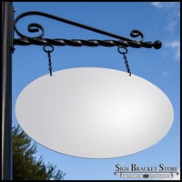 16in. Oval Aluminum Composite Sign Blank