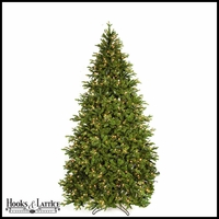 9 ft Kelso Pre-Lit Pine Artificial Christmas Tree w/ Warm White LED Lights