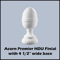 "4 1/2"" Dia. Full Small Acorn Newel Post Top"