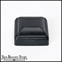 "Aluminum thin wall post cap for 3""x3"" square post - Black"