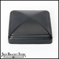 "Aluminum thin wall post cap for 4""x4"" square post - Black"