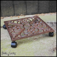 Amelia Square Rolling Plant Stand