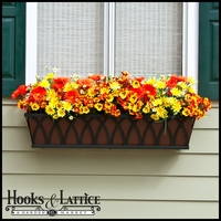 Arch Decora Window Box w/ Textured Bronze Liner (Hammered Finish)