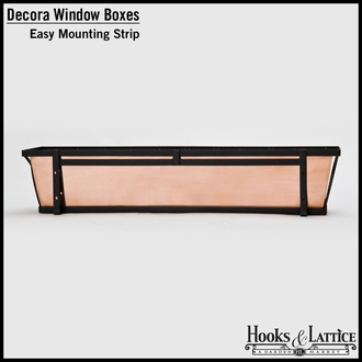 Arch Decora Window Boxes with Bronze Galvanized Liners