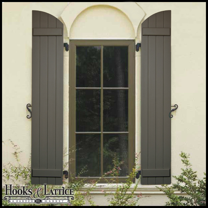 Arched Shutters Exterior Window Shutters By Hooks Lattice