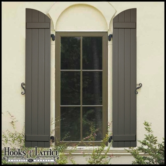 Arched Exterior Shutters