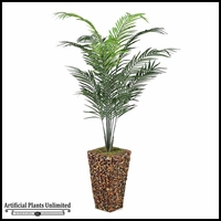 7' Areca Palm in Square Banana Leaf Basket