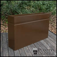 Arroyo Fiberglass Commercial Planter 48in.L x 18in.W x 24in.H