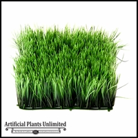 Artificial 4.5in. H Wheat Grass Mat 10in. Green - Indoor