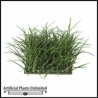 Artificial 8in.H Tall Wild- Grass Mat 10in. Green - Indoor