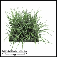 Artificial 8in.H Tall Wild Grass Mat 10in. Tutone Green - Indoor