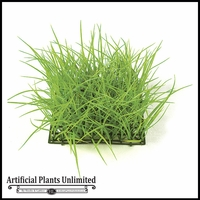Artificial 8in.H Wild Grass Mat 10in. Light Green - Indoor