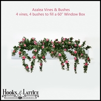 Artificial Azalea Vines & Bushes for Window Boxes