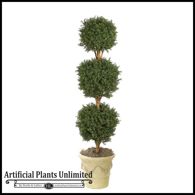 Artificial Ball Topiary For Indoor Use Plants