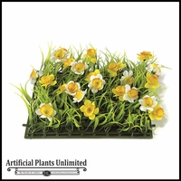 10in. X 10in. Daffodils Flower Grass Mat - Indoor