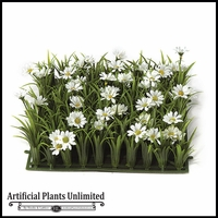 Artificial Daisies Grass Mat 10in. Indoor