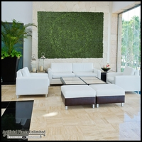 Artificial Indoor Living Walls with Embeded Custom Logo