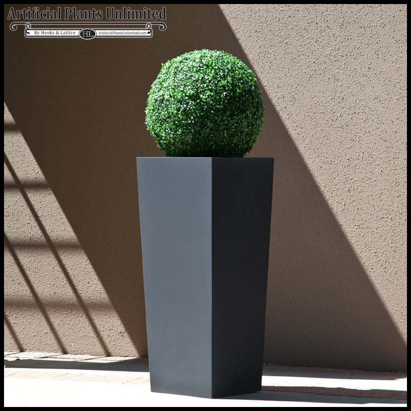 artificial topiary ball in urban chic planter artificial topiary tree ball plants pot garden
