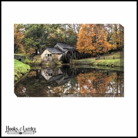 Autumn Country Mill on the River - Canvas Artwork