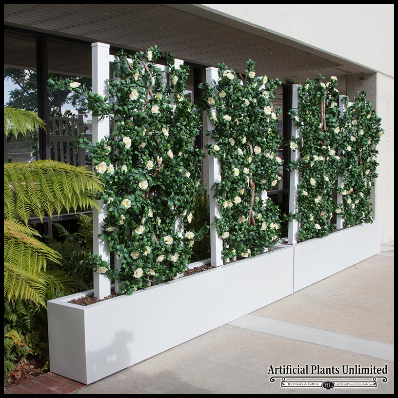 6 L Azalea Trellis Artificial Indoor Space Divider In