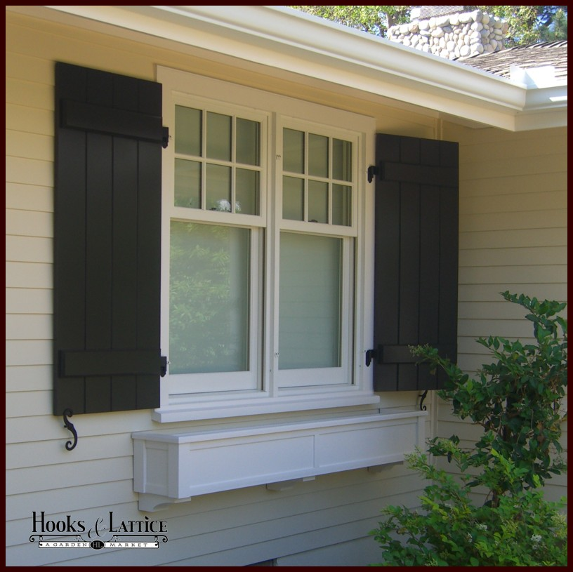 Pvc composite shutters board and batten shutters hooks for Shutters house exterior