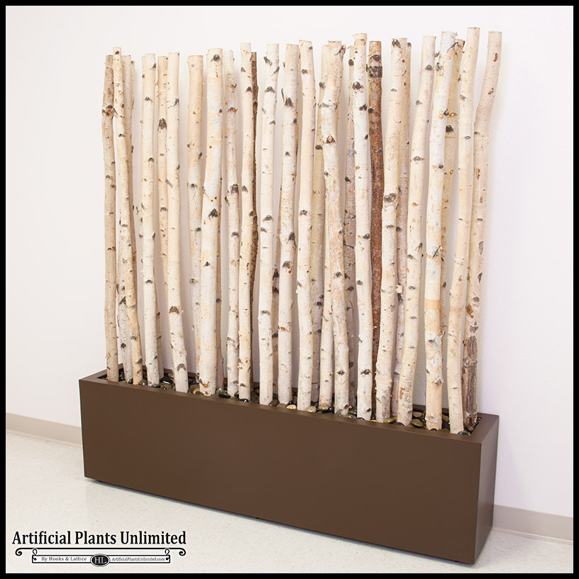 Birch Indoor Privacy Screen Artificial Plants Unlimited