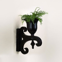 Black Urn Wall Sconce and Planter
