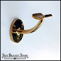 Brass Banner Bracket - Wall Mount