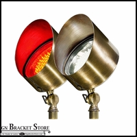Brass Directional LED Spot Light With Hood - 12V Low Voltage
