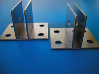 "Bright Finish- CENTER ""U"" Wall Mount Brackets - CLEARANCE SALE"