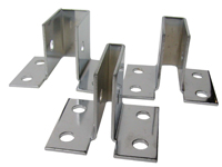 "Bright Finish- CORNER ""U"" Wall Mount Brackets - CLEARANCE SALE"