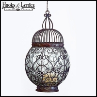 Bubble Design Elegant Steel and Glass Lantern