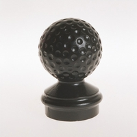 "Cast Aluminum Golf Ball Finial- 3"" Post"