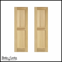 15in. Wide -Cedar Flat Panel Design Exterior Shutters (Pair)