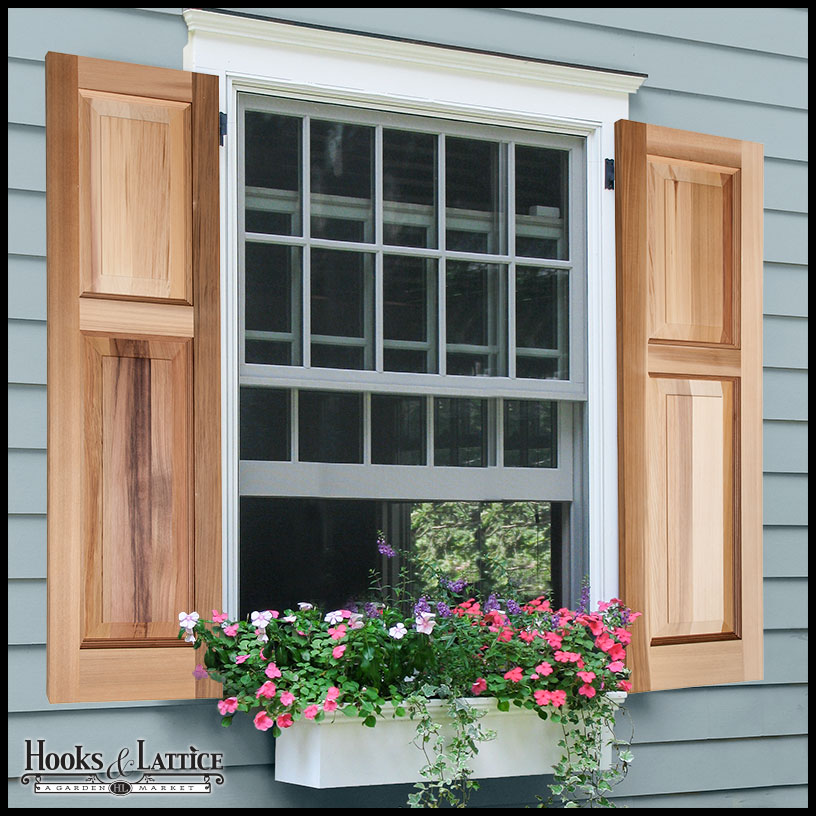 Wood Raised Panel Shutters