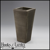 "Chalon 15"" Tapered Planter - Antique Bronze"
